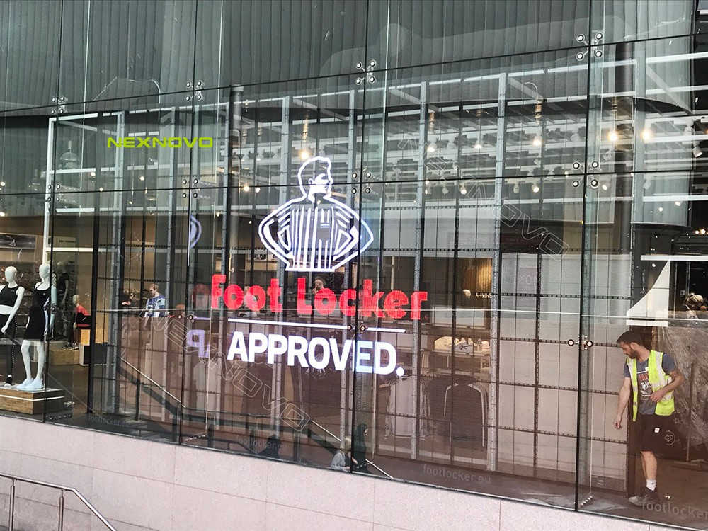 LED transparente, Footlocker Liverpool